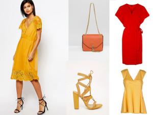 Colori Moda in liguria: noi votiamo il giallo senape, l'arancio solare e il rosso in tutte le sue sfumature. Img Courtesy Donna Moderna